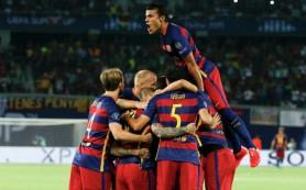 «Барселона» в дополнительное время победила «Севилью» и завоевала Суперкубок УЕФА