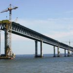 Возведена половина опор Крымского моста