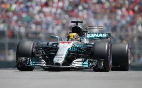 Пилот Mercedes Хэмилтон стал первым в квалификации Гран-при Канады