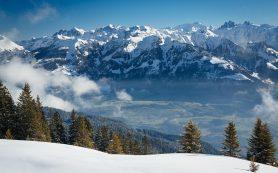 Угроза схода лавин в Швейцарских Альпах
