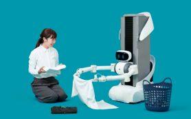Японский телеуправляемый робот поможет со стиркой