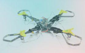 Складной корпус защитит компоненты дрона при столкновении