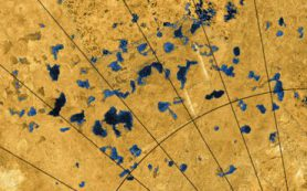 Плоские пятна на луне Сатурна Титане могут оказаться следами древних озер